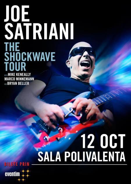 Afis Joe Satriani - Sala Polivalenta (12 octombrie 2015)